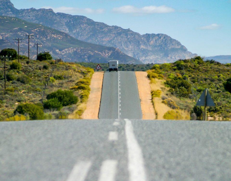 Voyage Afrique du sud garden route asphalt road